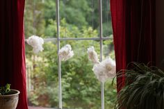 Learning about Wool, Wool clouds - Waldorf 1st grade handwork by Frontier Dreams,