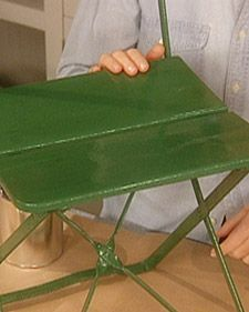 Stripping And Painting Iron Furniture With Tom