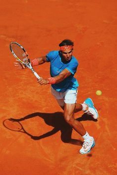 Nadal at the 2015 Internazionali BNL d'Italia in Rome. Get his gear here: http://www.tennis-warehouse.com/player.html?ccode=RNADAL