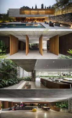 Modern Architecture Building Apartments – My Ideas Modern Residential Architecture, House Architecture Styles, Minimalist Architecture, Interior Architecture, Federal Architecture, Garden Architecture, Architecture Portfolio, Exterior Tradicional, Modern Villa Design