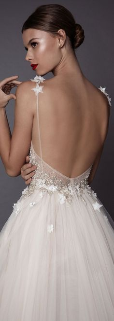 Such pretty detailing on this wedding dress by @bertabridal from their brand new Muse 2017 collection.