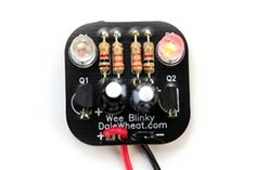 The Wee Blinky kit is an easy-to-solder two LED blinker circuit. It comes with a 9V battery snap, but will work with almost any voltage from 3V to 12V.  A 9V battery is not included. It's tiny, it blinks, and it's an inexpensive kit to hone your soldering skills.
