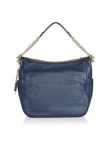Chandler navy chain hobo bag