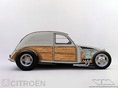 Hot Rod love it Citroen Concept, Concept Cars, Custom Motorcycles, Cars And Motorcycles, Hot Rods, Vw Rat Rod, Psa Peugeot Citroen, 2cv6, Pt Cruiser