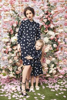 Heart Print like Burberry for Matching Mommy and me outfits The Best of fashion trends in Mother Daughter Dresses Matching, Mother Daughter Outfits, Mommy And Me Outfits, Mom Daughter, Family Outfits, Mother Daughters, Mothers, Mom Dress, Dress Girl