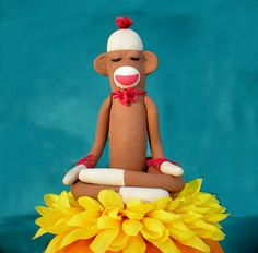 """""""Monkey Mind"""" is a term frequently used in yoga to describe when your mind runs from thought to thought and is unsettled or restless. So if a monkey practices yoga & mindfulness, what happens to his mind?  www.aspenyogamats.com"""
