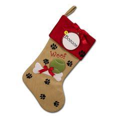 Doggie Paws Personalized Christmas Stocking
