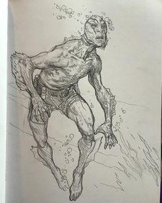 #abesapien #sketch I love mignola characters!! by karlkopinski