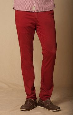 SUN DRIED TOMATO TROUSER POCKET STRETCH CHINO    BOWIE- STRAIGHT FIT 14.5 INCH LEG OPENING