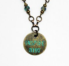 Inspire jewelry with words Bohemian Jewelry by Eleven11Designs