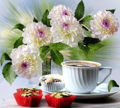 The perfect Szépnapot Coffee Flowers Animated GIF for your conversation. Discover and Share the best GIFs on Tenor. Good Morning Coffee, Good Morning Flowers, Good Morning Good Night, Gif Café, Coffee Gif, Coffee Images, Happy Coffee, Tea Gif, Coffee Flower