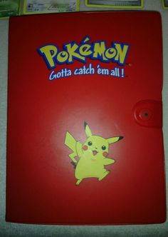 Pokemon Card Binder Album Pikachu Red Full of Cards