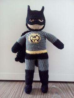 BATMAN Amigurumi - free crochet pattern by Polligurumi on Craftsy.