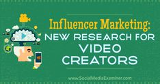 Discover new research that reveals how influencer marketing has grown and how video creators plan to pursue relationships with brands. Internet Marketing Company, Email Marketing Strategy, Seo Marketing, Digital Marketing Services, Influencer Marketing, Multi Level Marketing, Business Marketing, Online Marketing, Social Media Marketing