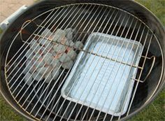 Here's how to set up a charcoal grill like the Weber Kettle for barbecue with two zones.