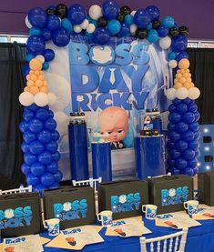 I don't think y'all know how DOPE this Boss Baby party really was 🗣🗣🗣🗣 Event stylist Balloons Venue, cake… Prince Birthday Theme, Boss Birthday, Boys First Birthday Party Ideas, Baby Boy 1st Birthday Party, Baby Party, Birthday Memes, Happy Boss's Day, Baby Shower Decorations For Boys, Boss Baby