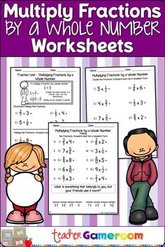 Reinforce fraction skills with this multiplying fractions worksheet. Students multiply fractions by a whole number. Handy guide at the top teaches students to look for key words to know which operation to use. Elementary Teacher, Elementary Education, Teacher Pay Teachers, Classroom Organization, Classroom Ideas, Online Music Lessons, Multiplying Fractions, Group Boards, Sixth Grade