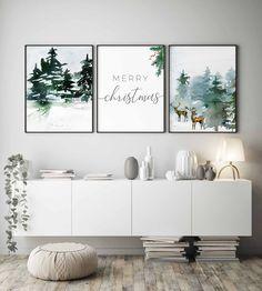 Christmas Family Feud, Christmas Living Rooms, Christmas Posters, Ikea Christmas, Merry Christmas, Christmas Wall Art Canvas, Christmas Wall Decorations, Christmas Stuff, Simple Christmas