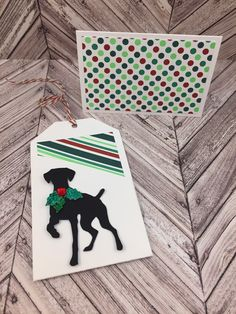 Your place to buy and sell all things handmade Card Tags, Gift Tags, Christmas Gift Card Holders, Christmas Sentiments, Dog Cards, German Shorthaired Pointer, Card Patterns, Card Envelopes, Sympathy Cards