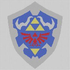 CROSS STITCH PATTERN Legend of Zelda Hyrule Shield on Etsy, $1.00