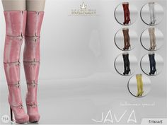 Sims 4 CC's - The Best: Madlen Java Boots