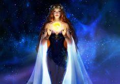 Éteri szépség - galaxis, leány, művészet, gyönyörű, légies