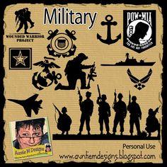 Auntie M Designs: military