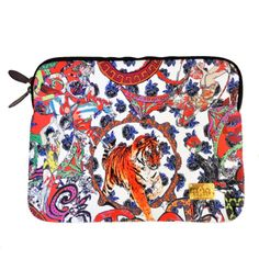 Crazy Circus Laptop Case ($47) ❤ liked on Polyvore featuring accessories, tech accessories, neoprene laptop case, laptop cases and macbook laptop case