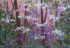 Dogwood Forest (Textile) by Denise Oyama Miller.