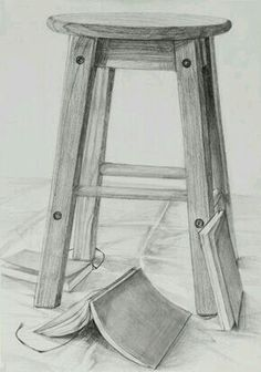 25 Chair Pencil Drawing Ideas - New Pencil Sketch Drawing, Basic Drawing, Art Drawings Sketches Simple, Sketch Painting, Pencil Art Drawings, Easy Drawings, Perspective Drawing Lessons, Chair Drawing, Drawing Projects
