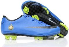 The original Safari Nike Mercurial Vapor Superfly III Elite FG Firm Ground Inter Milan Team Soccer Cleats Blue/Black
