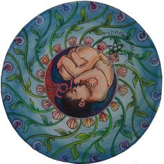 Birth Art: The Mandala Journey Doula, Illustrations, Illustration Art, Radiant Child, Birth Art, Birth Affirmations, Pregnancy Art, Natural Birth, Little Fish