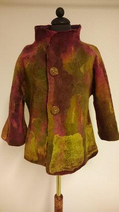Merino wool, silk, nuno felt. Jacket size M. Made by Skovmose by hand