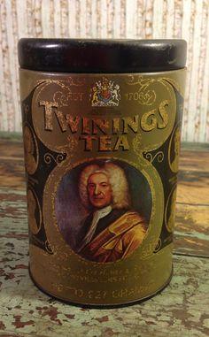 Vintage 1970s Twinings Tea Advertising Tin by CopperAndBirch