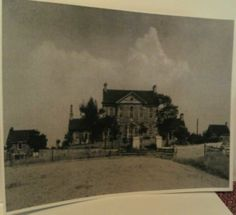Old photo of Mt Braddock House or Meason House,  built in 1802, located on the former Christopher Gist plantation. (PA Route 119 N near Connellsville PA) Fayette Co Pennsylvania  chw