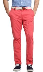 Lobster Red Slim Fit Chinos - I could maybe give in to these.  MAYBE.