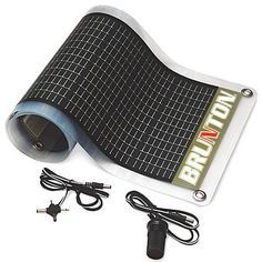 Flexible solar panels.