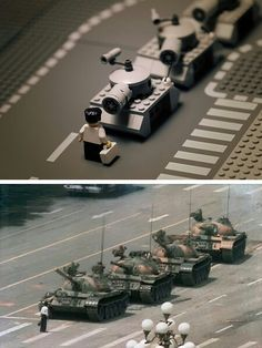 World famous photo recreated in Lego by Mike Stimpson