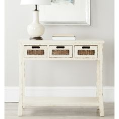 @Overstock - You'll fall for Autumn not only because of the loads of storage space, with three drawers and a bottom shelf, but also because of its subtle fusion of design details.http://www.overstock.com/Home-Garden/Autumn-White-3-drawer-Console-Table/7634063/product.html?CID=214117 $201.99