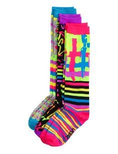 3 Pack Dot & Stripe Mix Knee High Socks   Knee Highs   Socks & Tights   Shop Justice