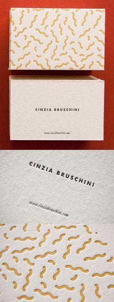 Quirky Textured Letterpress Business Card Design