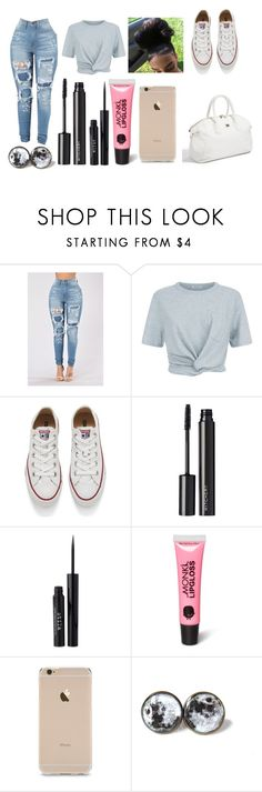 """Untitled #3531"" by mecca-tiana ❤ liked on Polyvore featuring T By Alexander Wang, Converse, Witchery, Stila, Monki and GUESS by Marciano"