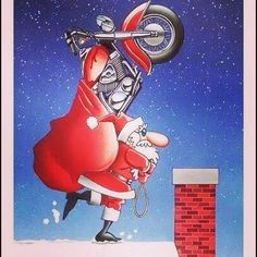 Tag your Santa and tell them to look this up! Harley Davidson Images, Harley Davidson Motorcycles, Christmas Artwork, Christmas Pictures, Christmas Humor, Christmas Fun, Christmas Goodies, Female Motorcycle Riders, Motorcycle Humor