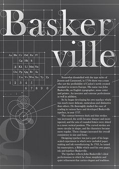 – The perfection of a Font. A typographic poster by by KOYOOX that shows the perfectionism of the Baskerville typeface.Baskerville – The perfection of a Font. A typographic poster by by KOYOOX that shows the perfectionism of the Baskerville typeface. Poster Fonts, Type Posters, Typographic Poster, Typography Love, Typography Letters, Graphic Design Typography, Creative Typography, Layout Design, Typo Design