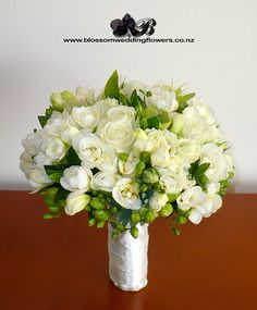 white-freesia-rose-bouquet by Blossom Wedding Flowers, via Flickr-going to be incorporated into my bridal bouquet