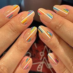 Minimalist Nails, Fancy Nails, Pretty Nails, Spring Nails, Summer Nails, Pink Summer, Summer Fun, Ten Nails, Dream Nails