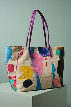 REALLY anthro? $458 for an actual canvas bag? Abstract Painted Tote Bag