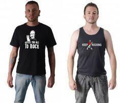 Camiseta Bandas de Rock : Rock in Rio em Setembro? Monsters of Rock em Outubro? O que no falta  evento para vestir a Camiseta Never Too Old to Rock! Ou que tal a Keep Rocking? | camisetasdahora