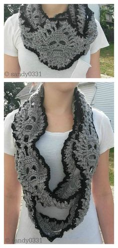 Lost Souls Scarf Free Crochet Pattern Get ready for Halloween early this year with this Fantastic Skull Scarf Free Crochet Pattern. It is a perfect way to get into the Halloween spirit. One Skein Crochet, Thread Crochet, Crochet Scarves, Crochet Crafts, Crochet Stitches, Crochet Hooks, Crochet Projects, Crochet Granny, Hand Crochet