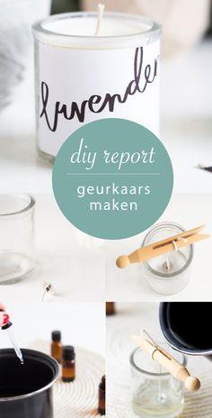 DIY - geurkaars maken #diy #geurkaars #label Diys, Diy Projects, Diy Crafts, Homemade, Tableware, Creative, Label, Christmas, Accessories